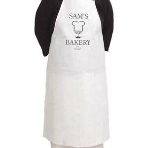 "Disposable White Apron (25""x31.5"") The 500 Line"