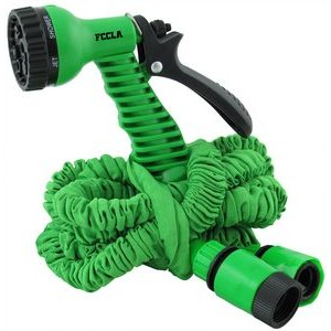 25 Foot Scrunchie Hose W/ Sprayer