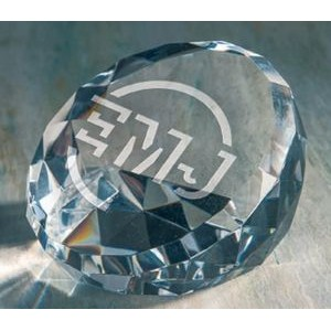 Standing Faceted Paperweight