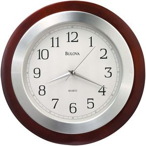 Bulova Reedham Wood Wall Clock