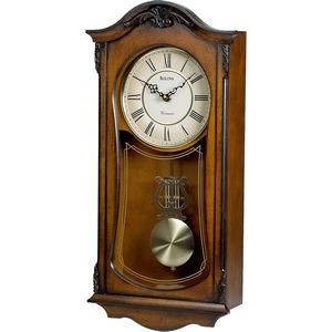 Bulova Cranbrook Walnut Finish Wall Clock