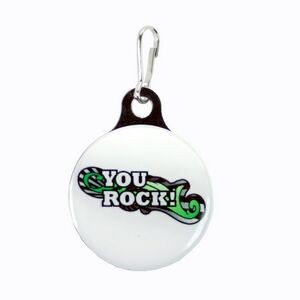 "Zipper Pull Charm / Tag (3/4"" Double Sided Dome with Metal Backer)"
