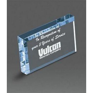 "Rectangle Acrylic Paperweight 4""x2 1/2''"