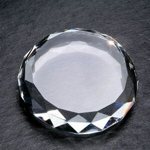 Gem Cut Optic Crystal Paperweight